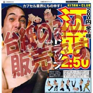 【非売品ディスプレイ台紙】江頭2:50ストラップ 奇譚クラブ ガチャポン|yuyou