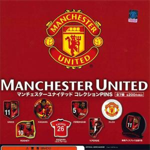 Manchester United コレクションPINS 全7種+ディスプレイ台紙セット システムサービス ガチャポン yuyou