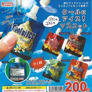 クールに アイス ぷにゅぷにゅ マスコット 全5種+ディスプレイ台紙セット トイズスピリッツ 食品ミニチュア ガチャポン ガチャガチャ ガシャポン|yuyou