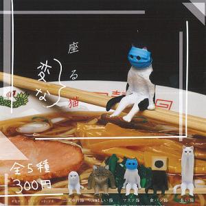 座る 変な 猫 全5種セット 2月予約 奇譚クラブ 動物フィギュア ガチャポン ガチャガチャ ガシャポン yuyou