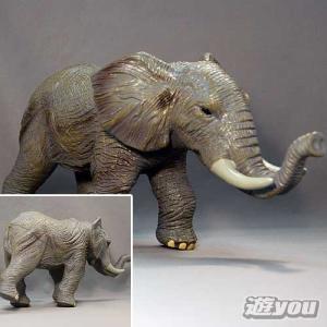 どうぶつ王国 4:ゾウ ビッグサイズ 動物フィギュア やわらか素材 エイコー プライズ|yuyou