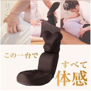 美バランス 肩・首スッキリ座椅子 HOGUURE PROIDEA プロイデア 姿勢 腰痛 ストレッチ座椅子|yuyu-honpo