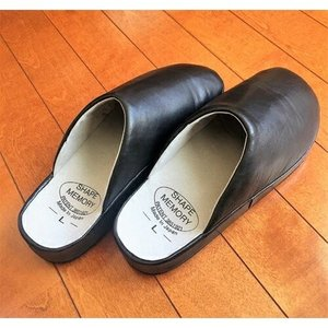 ラクラクドクターシューズ 黒 レザー 本革 日本製 室内履き 紳士 医師 高級内履き|yuyu-honpo