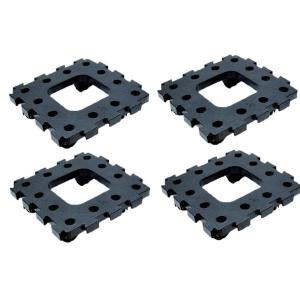 ジョイントキャリー2枚入り×2個セット(計4枚) キャスター 連結パレット 移動 植木鉢 連結台車 ユニトレンド 連結式 yuyu-honpo