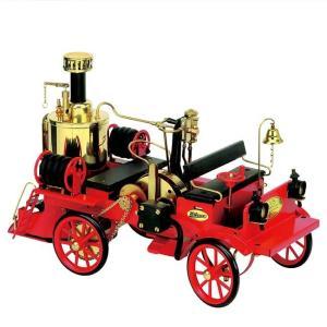 蒸気エンジン付ポンプ消防車 1/16スケール D305 ドイツ製 実働蒸気エンジン搭載 模型 Wilesco ヴィレスコ ヴィルヘルム・シュレッダー社|yuyu-honpo