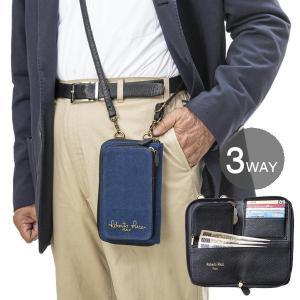 ロベルトリッチ 3WAY 藍染10ポケットウォレット Robert Ricci メンズ ウエストポーチ ショルダー 財布|yuyu-honpo