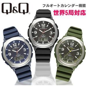 シチズン CITIZEN Q&Q 電波ソーラー腕時計 アナログ MD16-305/MD18-305/MD20-305 メーカー1年保証|yuyu-honpo