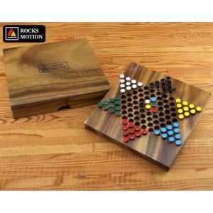 ロックスモーション 木製 ダイヤモンドゲーム  木のおもちゃ 玩具 脳トレ 知育 高齢者 ボードゲーム テーブルゲーム|yuyu-honpo