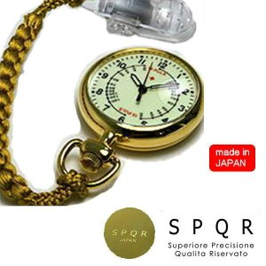 SPQR スポール NURSEWATCH ナースウォッチ ゴールド 蓄光 アナログ文字盤|yuyu-honpo