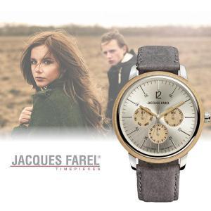ジャックス ファレル JACQUES FAREL 多機能腕時計 グレー ORM2001 スイス 天然木使用|yuyu-honpo