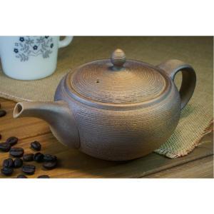 土平栄一作 一心窯 焼締コーヒー急須 常滑焼 450cc 伝統工芸士 コーヒー専用の急須 yuyu-honpo
