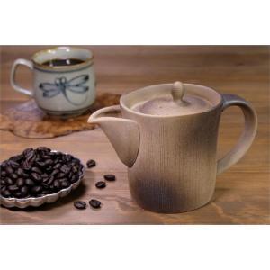 一心窯 焼締コーヒー急須 ソロ SOLO 280cc 伝統工芸士 土平栄一作 コーヒー用急須 常滑焼|yuyu-honpo