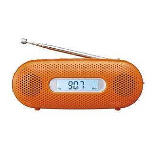 ●パナソニック ラジオ FM/AM/ワイドFM対応 手回し充電対応 オレンジ RF-TJ20-D ●...
