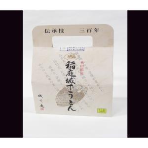 稲庭城下うどん (日本三大うどん) 熟練した職人の手延べから生まれる極上かつ希少な逸品!  うどん500g×1袋 かつお一番だしつゆ24g×5袋 TB-10【手提げ箱】|yuzawamarugoto