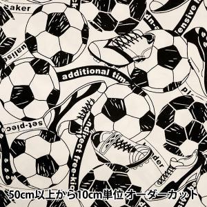 【数量5から】 生地 『モノスポーツサッカー YKA69010-2A ホワイト』 KOKKA コッカ