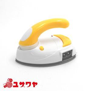 ○ミニアイロン 黄/DMA-04YL[小型/手芸/旅行/便利用品/レクリエ] yuzawaya