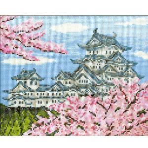 【刺しゅうキットP15】オリムパス 刺繍キット春の姫路城 7...