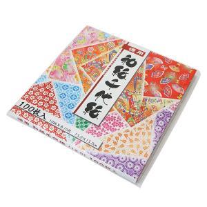 和紙で作ったお得な千代紙!大満足のボリュームです!  ◆サイズ:15cm×15cm ◆10柄各10枚...