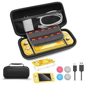 Nintendo Switch Lite ケース 6in1セット【収納ケース+カバー+ガラスフィルム...