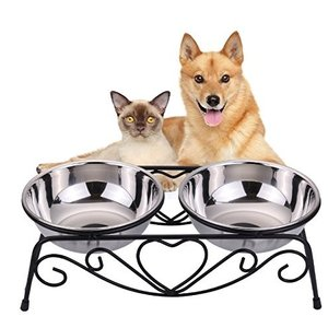 VIVIKO ペット用品 犬のボウル 猫のボウル ご飯入れ 食器 食事 台 高品質ステンレス製 餌や...
