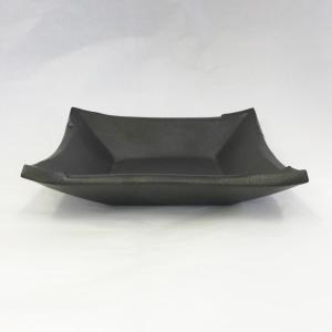 萩焼 小皿 「黒」 ywebg