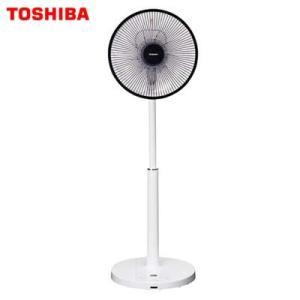 東芝 扇風機DCモーター搭載 リビング扇(リモコン付 ホワイト)TOSHIBA ハイポジションタイプ...