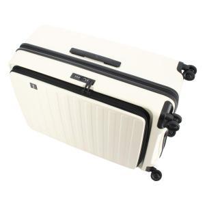 ロジェール スーツケース CUBO-L Lサイズ 100L/110L 71cm 4.9kg ホワイト