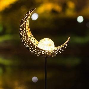 ガーデンライト ソーラー 炎 太陽 月 LED ランプ 庭 防水 屋外 照明 景色 装飾的 日光