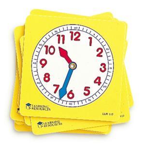 学習時計 プラスチック 生徒用 10枚セット 10cm yyyr1206