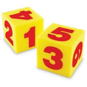 ジャイアント スポンジサイコロ 数字 Giant Soft Foam Number Cubes LER0412 yyyr1206