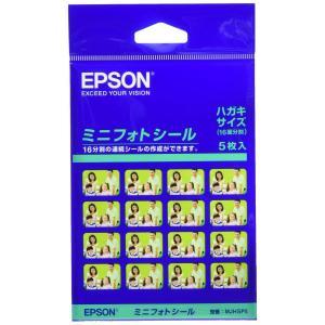 EPSON ミニフォトシール はがきサイズ(16分割)シール 5枚入り MJHSP5|yyyr1206
