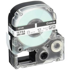 キングジム テープカートリッジ テプラPRO 12mm  SS12K|yyyr1206