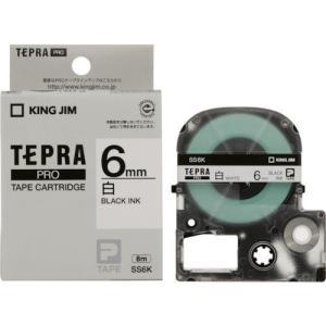 キングジム テープカートリッジ テプラPRO 6mm SS6K|yyyr1206