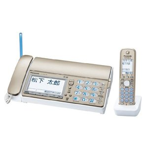 Panasonic おたっくす デジタルコードレス普通紙ファックス 子機1台付き KX-PD601DL-N シャンパンゴールド 【送料無料(沖縄県を除く)】|yz-office
