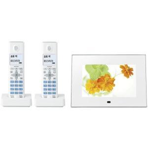 SHARP インテリアホン コードレス電話機 デジタルフォトフレーム 子機2台タイプ ワイド7型カラー液晶搭載 JD-7C1CW-W ホワイト 【送料無料(沖縄県を除く)】|yz-office