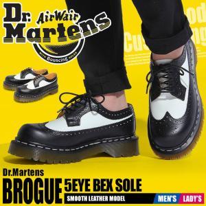 (クーポンで500円OFF) ドクターマーチン ブーツ メンズ レディース 5アイブローグシューズベックスソール DR.MARTENS 10458001 ブラック 黒 ホワイト|z-craft
