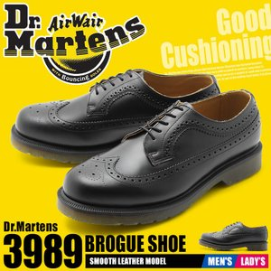 DR.MARTENS ドクターマーチン シューズ 3989 ブローグシューズ 24340001 メンズ レディース|z-craft