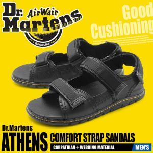 ドクターマーチン サンダル メンズ アセンズ ATHENS SANDAL 24871001 DR.MARTENS ブランド レザー ベルト ブラック 革靴 本革|z-craft