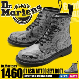 DR.MARTENSドクターマーチン ブーツ メンズ レディース 1460 OT アジアタトゥー 8ホールブーツ 24239001|z-craft