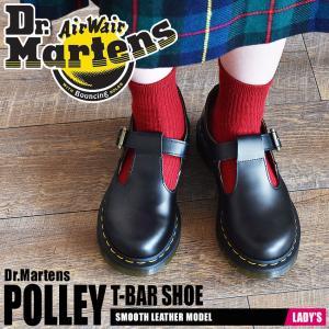 (クーポンで500円OFF) DR.MARTENS ドクターマーチン シューズ レディース ポリー Tバー シューズ 14852001|z-craft
