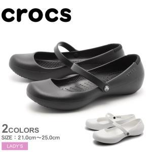 クロックス パンプス レディース アリス ワーク CROCS 11050 ブラック 黒 ホワイト 白...