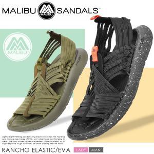 トレッキングサンダル メンズ レディース 登山 RANCHO ELASTIC/EVA 靴 マリブサンダルズ アウトドア キャンプ 黒 軽い スポーツ|z-craft