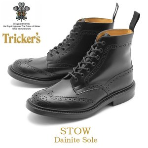 トリッカーズ TRICKER'S TRICKERS ストウ ダイナイトソール ブラックカーフ メンズ