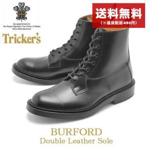 トリッカーズ TRICKER'S TRICKERS バーフォード ダブルレザーソール ブラックカーフ...