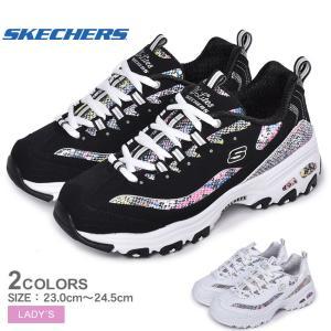 スケッチャーズ スニーカー レディース ディーライト SKECHERS 149243 ブラック 黒 ホワイト 白 クッション 軽量 靴 シューズ|z-craft