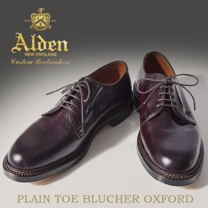 ALDEN オールデン シューズ プレーン トゥ ブルッチャー オックスフォード 990 メンズ
