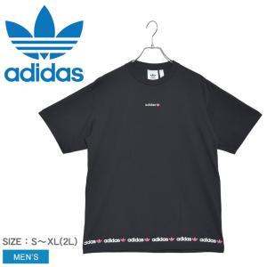 アディダス オリジナルス 半袖Tシャツ メンズ リニアロゴリピートティー ADIDAS ORIGIN...