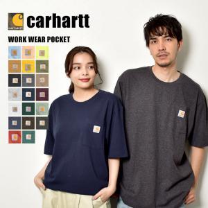 【メール便可】カーハート 半袖Tシャツ メンズ ワークウェア ポケット RN14806-K87 CARHARTT ブランド ストリート 無地 ワンポイント カットソー トップス z-craft