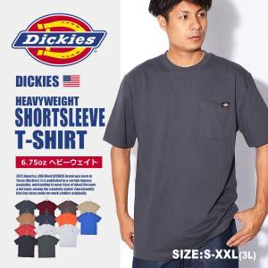 ディッキーズ 半袖Tシャツ メンズ ヘビーウェイトショートスリーブ DICKIES WS450 黒 白 z-craft