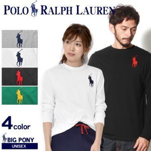 ラルフローレン Tシャツ メンズ レディース 長袖 ビッグポニー クルーネック シャツ POLO RALPH LAUREN
